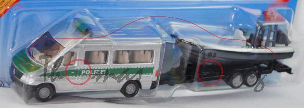 00000a Mercedes-Benz Sprinter (T1N, W 901, Mod. 95-00) Kleinbus Polizeitransporter m. Anhänger+Mehrz