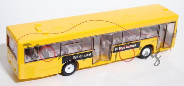 00803 Linienbus Mercedes O 405 N, kadmiumgelb, links HT Tag bussen, når du køber legetøj und rechts