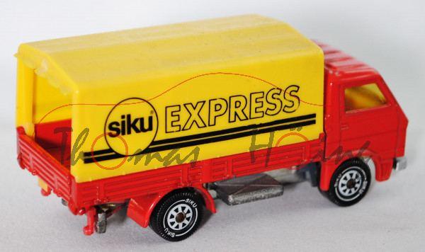 Siku Super 1625 MAN-VW 9.136 F LKW 1:71 mit Pritsche und Plane ca G90