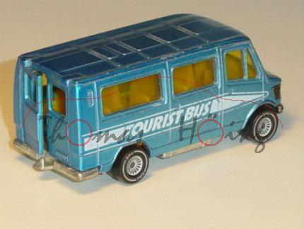 Mercedes 208 (Baureihe TN, Typ T 1) Bus, Modell 1977-1982, himmelblaumetallic, TOURIST BUS, mit Spie