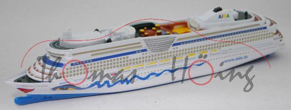 00401 Panamax-Kreuzfahrtschiff AIDAdiva (Modell 2007), weiß/blau, SIKU SUPER 1:1400, L17mpK