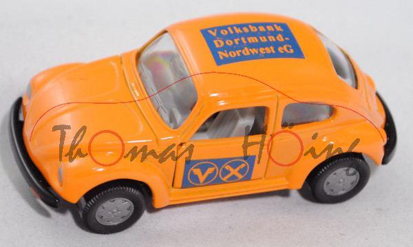 VW Käfer 1303 LS (Typ 13, Modell 1975), pastellorange, Volksbank / Dortmund- / Nordwest eG, mb