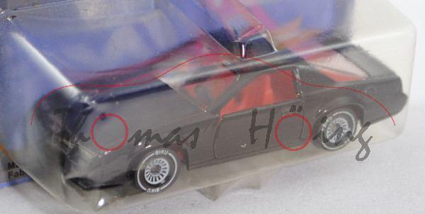 00002 Chevrolet Camaro Z28 (3. Generation, Modell 1982-1985), schwarz, innen verkehrsrot, Lenkrad sc
