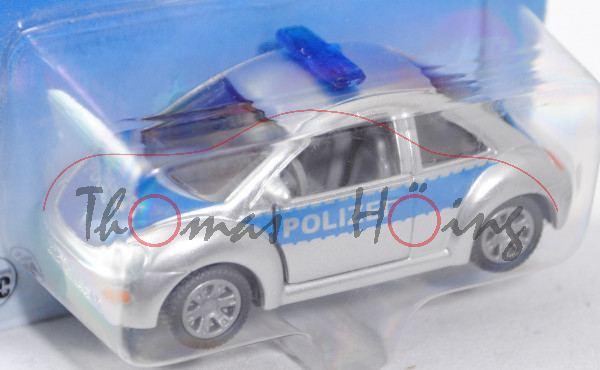 00003 VW New Beetle 2.0 (Typ 9C, Modell 1998-2001) Polizei, weißaluminiummetallic/hell-verkehrsblau,
