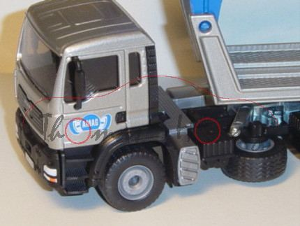 03900 MAN TGA PKW Transporter, silbergraumetallic/hell-verkehrsblau, AMAG, LKW16, ohne Ladegut, L17