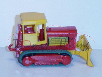 Case Bulldozer, signalgelb/feuerrot/chromgelb, abnehmbares Verdeck, Matchbox Series