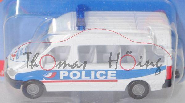 00101 F Mercedes-Benz Sprinter II (Mod. 06-13) Police Van, weiß, POLICE, hohe Blaulichtleiste, P29e