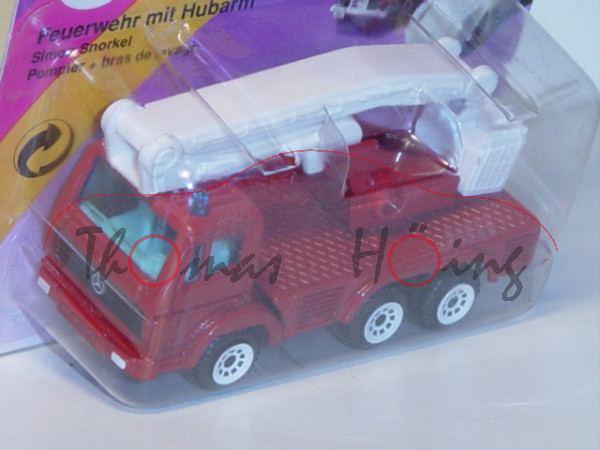 00000 Mercedes-Benz SK (S-Fahrerhaus, Modell 1989-1994) Feuerwehr mit Hubarm, signalrot, innen reinw
