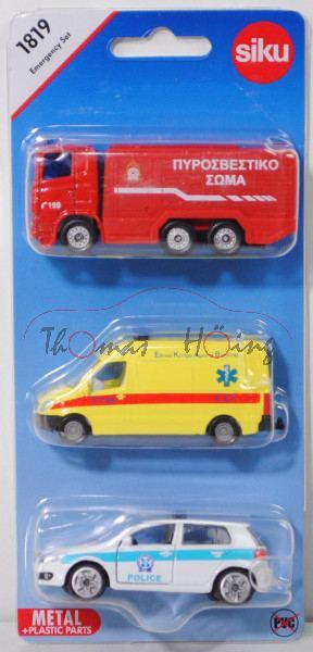 00900 GR Emergency Set, mit: Scania R380+MB Sprinter II+VW Golf VI, C 199 / AMBULANCE / POLICE, P29e