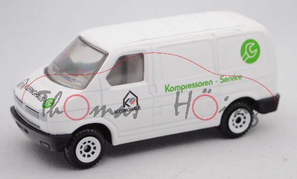 VW T4 Transporter Kastenwagen (Typ 70, Mod. 1990-1995), weiß, KLEFINGHAUS / Kompressoren - Service