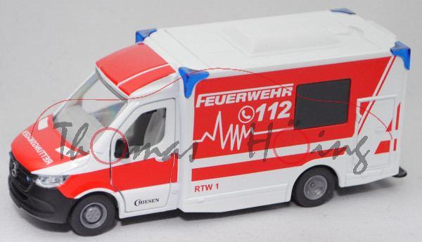 00000 MIESEN Rettungswagen mit Kofferaufbau auf MB Sprinter Fahrgestell, SIKU, L17mK