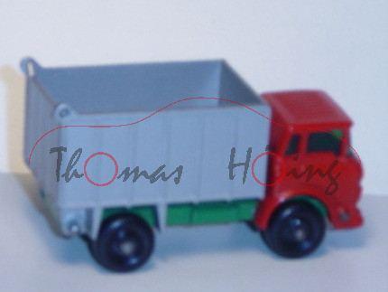 GMC Tipper Truck, feuerrot/minzgrün/silbergraumetallic, Mulde kippbar, Heckklappe zu öffnen, Matchbo