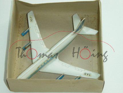 Boeing 707 Intercontinental, SABENA / SAB 707, 1:250, ohne Zettel, mb (Deckel eingerissen)