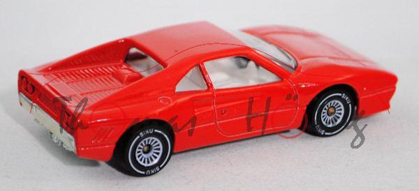 00000 Ferrari 288 GTO (Modell 1984-1985), verkehrsrot, innen reinweiß, Lenkrad schwarz, Chassis chro