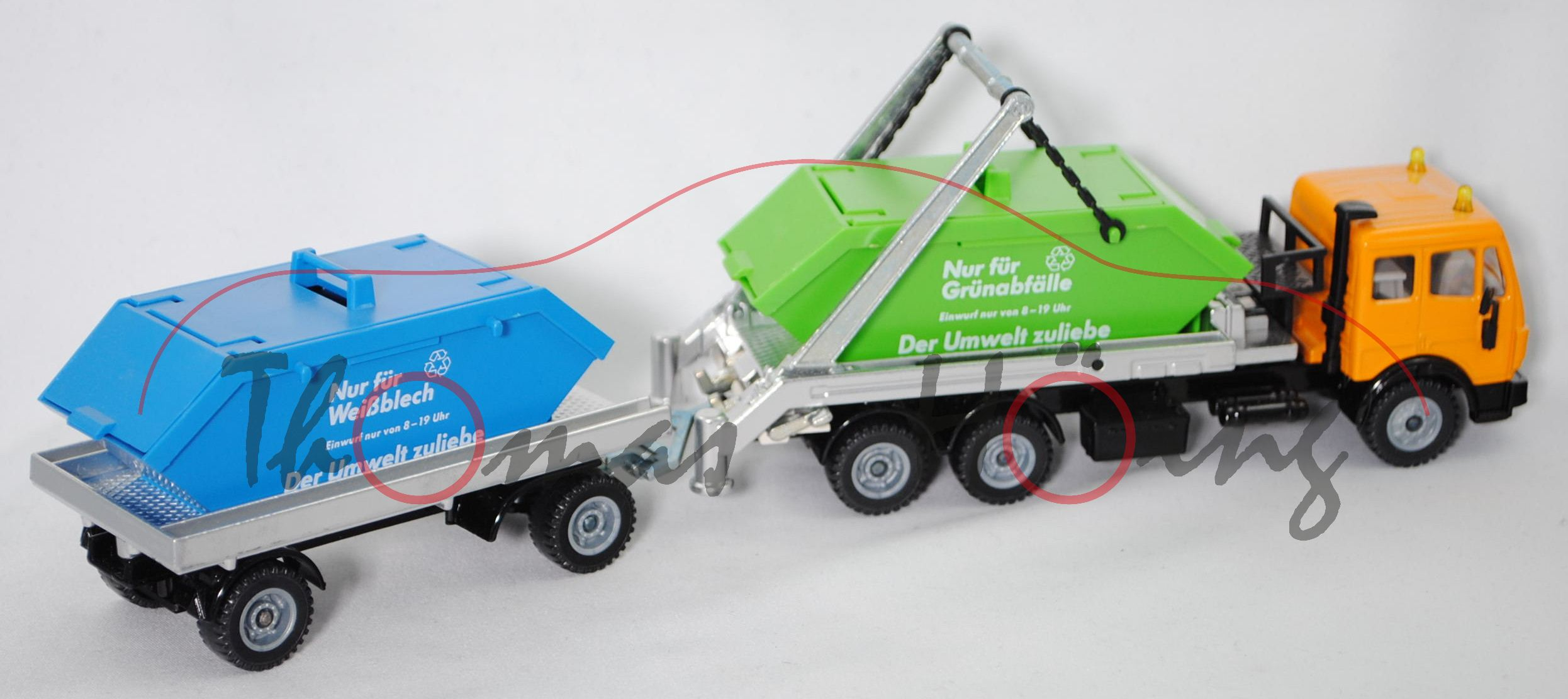 ca 1:55 Siku Super 3516 Mercedes-Benz SK 2629 6x2 Recycling-Absetzkipper
