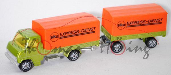 00002 Hanomag-Henschel F-Reihe Pritschenwagen LKW-Zug mit Anhänger und Planen