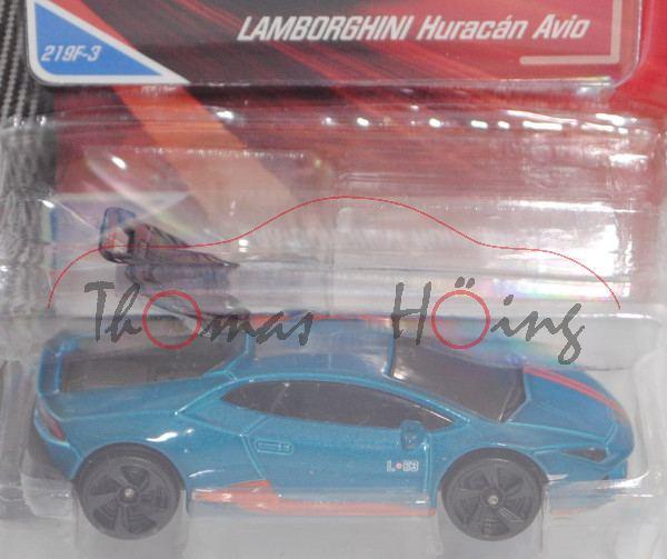 Lamborghini Huracán LP 610-4 Avio (Mod. 2016-2017), hell-ozeanblaumetallic, majorette, ca. 1:64, mb