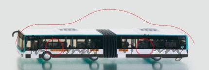00100 Neoplan Gelenkbus, reinweiß/türkisblau, RATP / 185, 1:87, P29, F