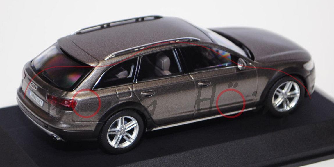 Audi A6 C7 Allroad Quattro Java Braun Ab 2012 1//43 Kyosho Modell Auto mit oder..