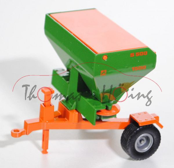 Düngerstreuer mit Fahrrahmen, smaragdgrün/reinorange, AMAZONE ZA-M maxiS / S 500 / 1500, L17P