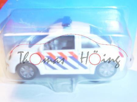 00300 VW New Beetle 2.0 (Typ 9C) Polizei, Modell 1998-2001, weiß, POLITIE, rot/blaue Streifen, P28,