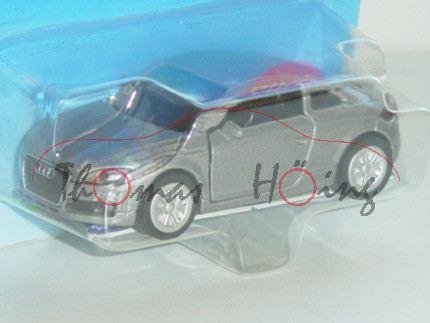 00007 Audi TT 3.2 quattro (Typ 8J), Modell 2006-2010, staubgraumetallic, innen schwarzgrau, Lenkrad