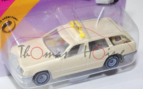 Mercedes-Benz 300 TE (Baureihe S 124, Modell 1985-1986) Taxi, hellelfenbein, innen grau, Lenkrad gra