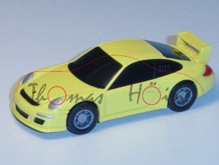 Porsche 911 GT3, hellgelb, Pullback, 1:64, Minichamps