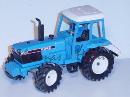 Ford-Traktor 8830, himmelblau, Aufkleber vorne minimal beschädigt, L14a