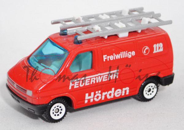 VW T4 Transporter Kastenwagen (Typ 70, Mod. 90-95) Feuerwehr-Gerätewagen, rot, FEUERWEHR / Hörden