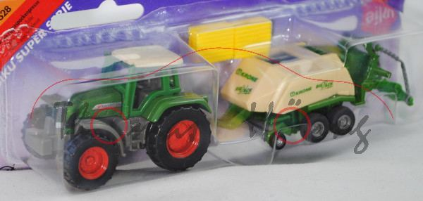 00000a Fendt Favorit 926 Vario (Mod. 00-02) mit KRONE Großpackenpresse BiG PACK 128 VFS MultiCut (Mo