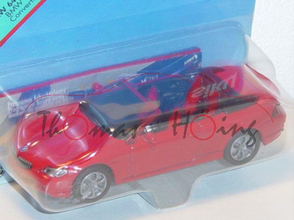 00002 BMW 645Ci Cabrio (Typ E64, Modell 2004-2005), verkehrsrot, innen schwarz/rot, Lenkrad schwarz,