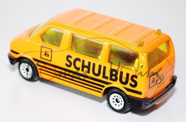 00001 VW T4 Caravelle Schulbus, Modell 1990-1995, melonengelb, SCHULBUS, minimale Farbabplatzer