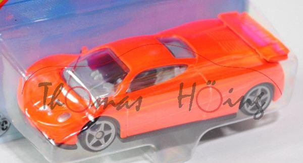 00001 SIKU HURRICANE (vgl. Pagani Zonda C12, Modell 1999-2002), leuchtorange, innen lichtgrau, Lenkr