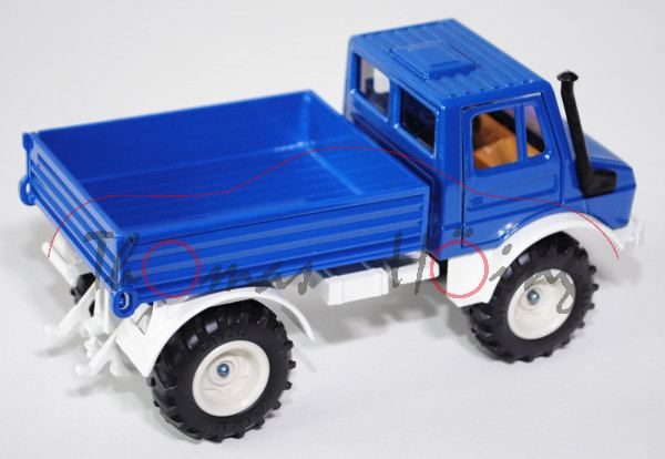 00404 Unimog U 1500 (Baureihe 425.141, Modell 1975-1988), hell-enzianblau/reinweiß, Felgen perlweiß,