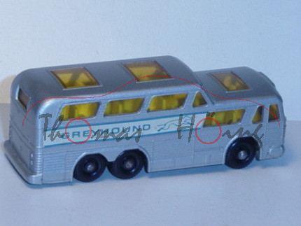 Greyhound Bus, silbergraumetallic, GREYHOUND, Matchbox Series