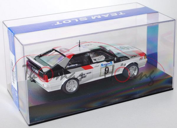 Audi Quattro, weiß, Acropolis Rallye 1982, Mouton/Pons, Nr. 9, TEAM SLOT, 1:32, mb