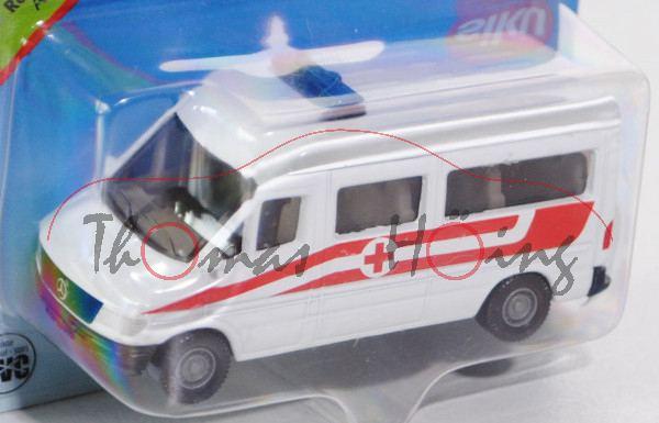 03800 Mercedes-Benz Sprinter (T1N, Baureihe W 901) Kleinbus Rettungsdienst, Modell 1995-2000, reinwe