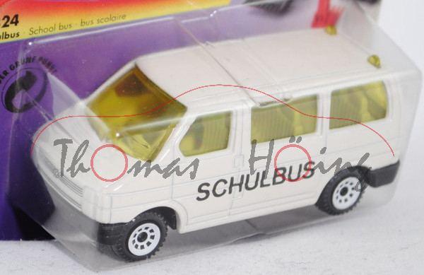 00000 VW T4 Caravelle (Modell 1990-1995) Schulbus, reinweiß, innen lichtgrau, Lenkrad integriert, SC
