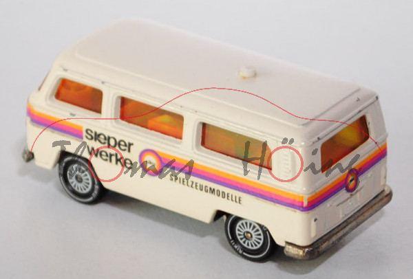 VW Bus (Typ T2b, Modell 1972-1979), cremeweiß, sieper / werke / siku / SPIELZEUGMODELLE, Verglasung