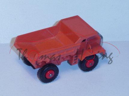 Mack Dump Truck, verkehrsorange, Mulde kippbar, Matchbox Series