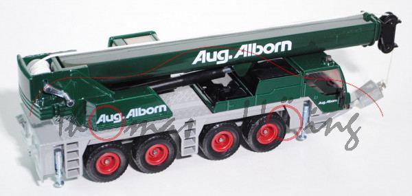 Autokran Liebherr LTM 1060/2, moosgrün/dunkel-lichtgrau, Aug. Alborn, 1:55, L16nm