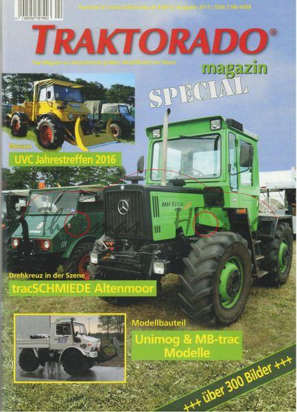 TRAKTORADO® Magazin, Nr. 8, SPECIAL magazin Unimog und MB-trac, Ausgabe 2017, UVC Jahrestreffen 2016