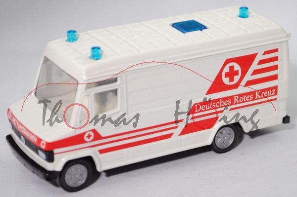 00002 MB 809 D (Modell 86-92) DRK-Rettungsdienst, weiß, Deutsches Rotes Kreuz, 3 dicke Blaulichter
