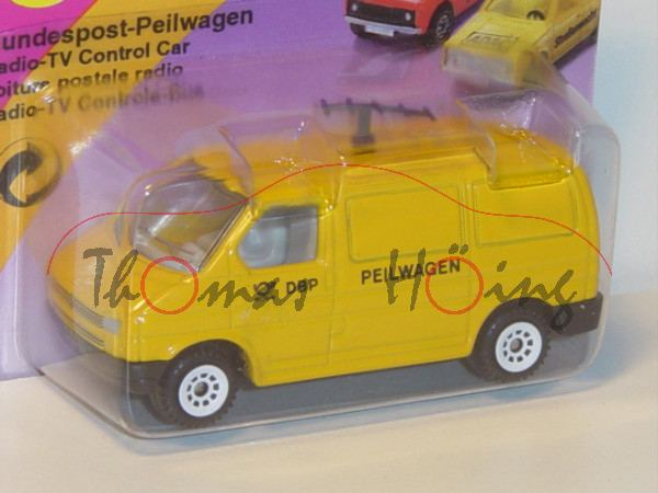 VW T4 Transporter Kastenwagen (Modell 1990-1995) Bundespost-Peilwagen, kadmiumgelb, innen lichtgrau,
