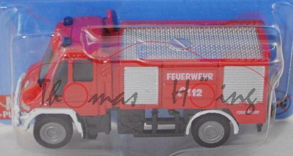 MB Unimog U 400 (U 405, Mod. 2001-2014) Feuerwehr Tanklöschfahrzeug TLF, rot/weiß, C44b grau, P29e