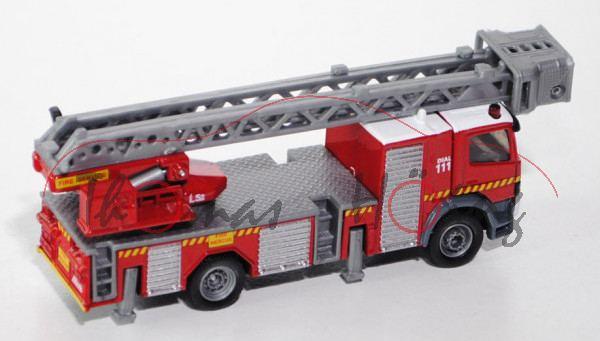 80400 Mercedes Atego Feuerwehr Drehleiter, karminrot/reinweiß, FIRE / DIAL / 111 / FIRE SERVICE / L3