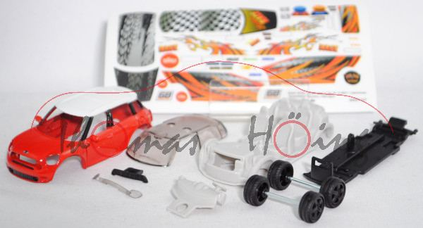 00000 Bastelset Mini Cooper S Countryman (Modell 2010-2014) Race, rot/weiß, mb (Limited Edition)