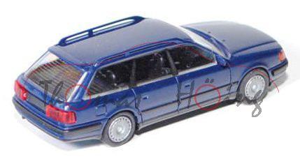 Audi 100 Avant (C4), Modell 1991-1994, stahlblau, mit Radblenden, Rietze, 1:87, mb