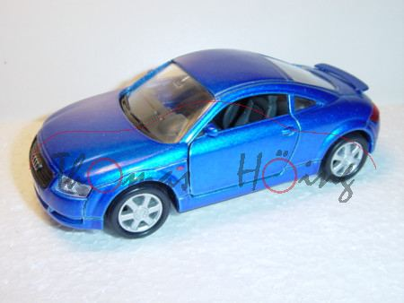 Audi TT Coupe, Mj. 1998, dunkelblaumetallic, Welly, 1:36
